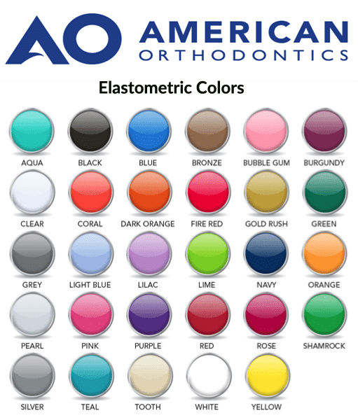 american orthodontics elastometrics bands